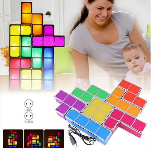 Tetris Stackable LED Night Light