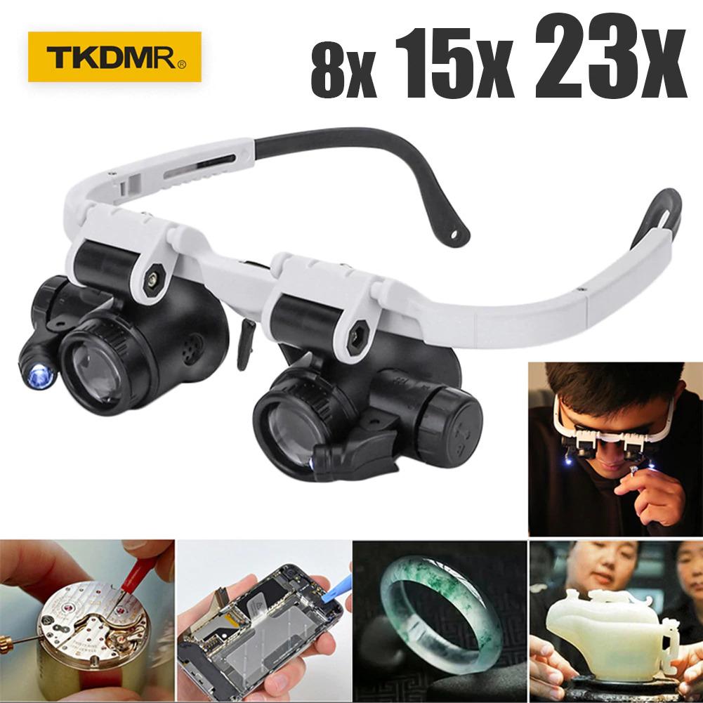 LED Glasses Magnifier